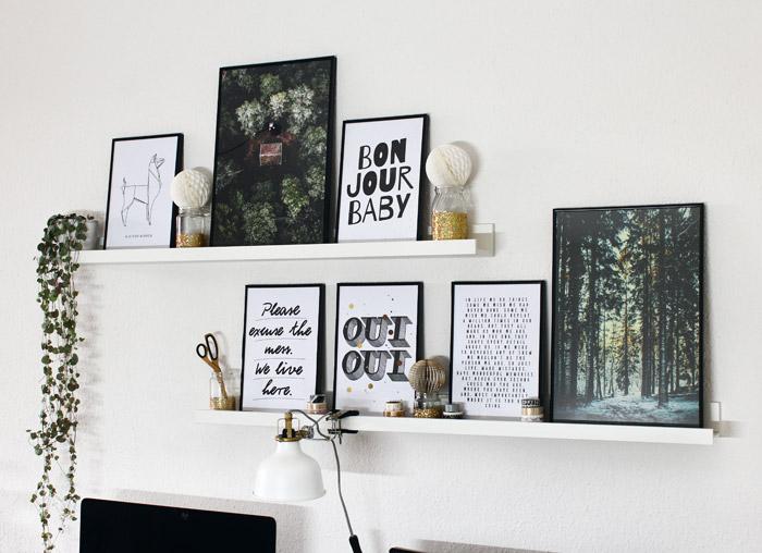 Wandgalerie mit Juniqe Postern