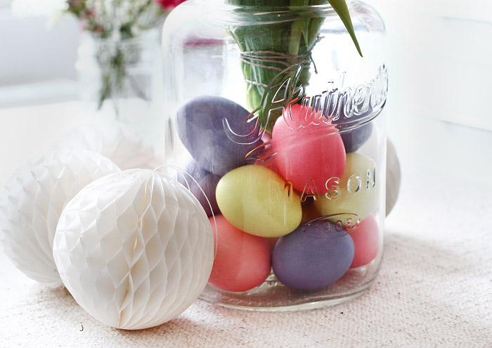 Maison Jar für Ostern dekorieren