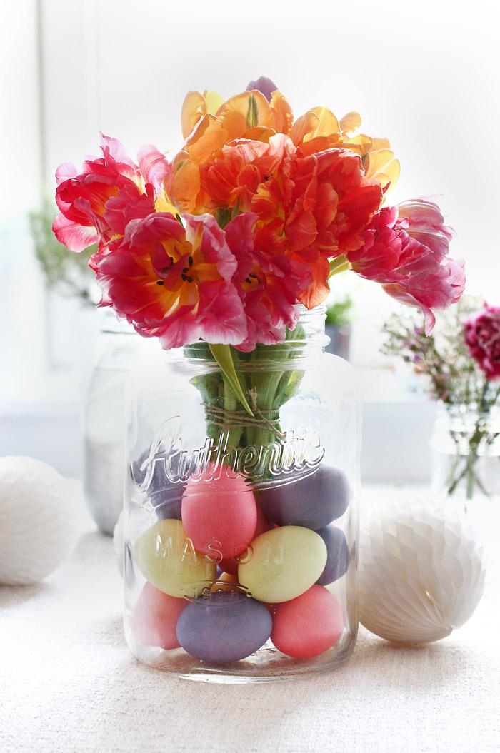 Osterdekoration mit Maison Jar und Pastelltönen