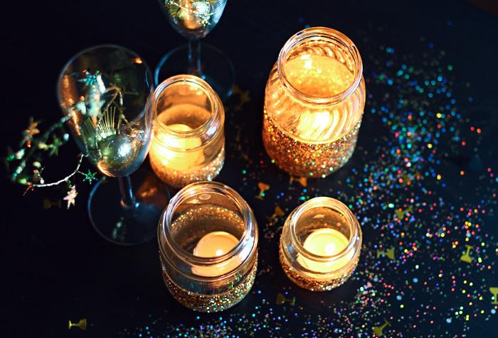 Silvester diy glitzer dekoration rauschgiftengel for Silvester dekoration